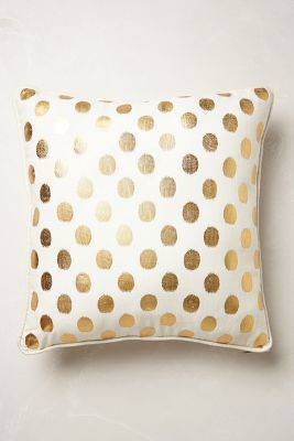 asheville-wedding-gold-dot-pillow