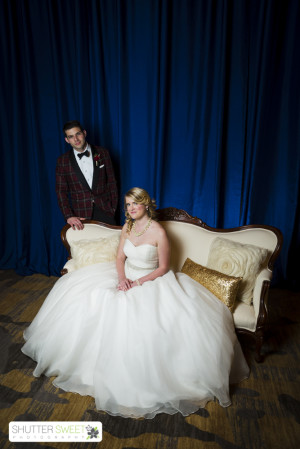 Bride and Groom fashion by Fabulous Frocks and The Modern Gent