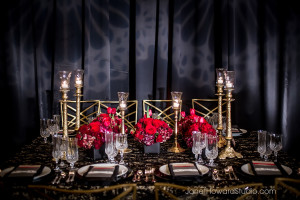 Valentino-inspired tablescape