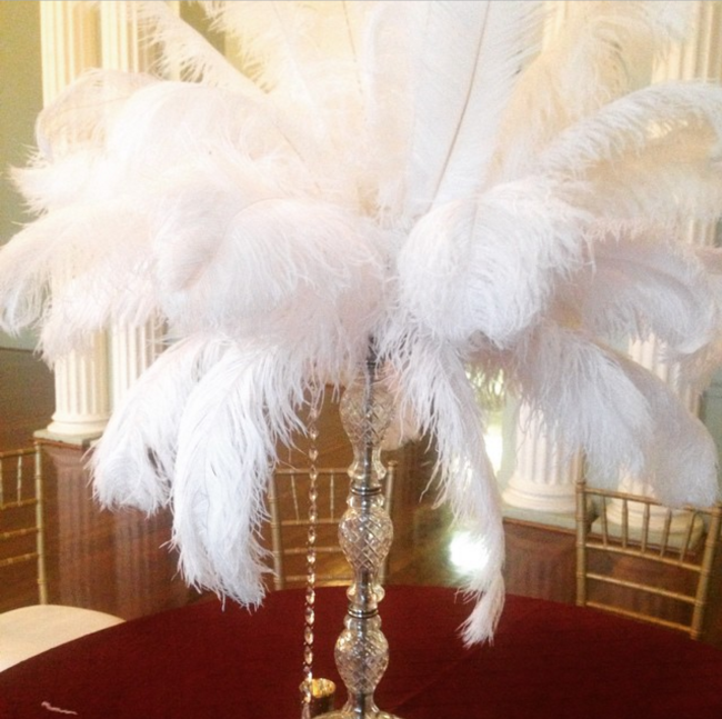 je centerpiece feathers