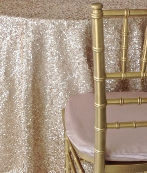 champagne sequin taffeta table linens nuage designs studiowed