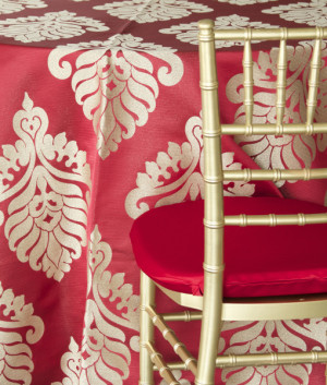 red metallic medallion nuage designs linens studiowed