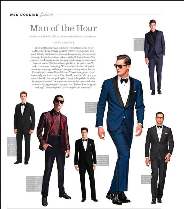 Modern Gent magazine page