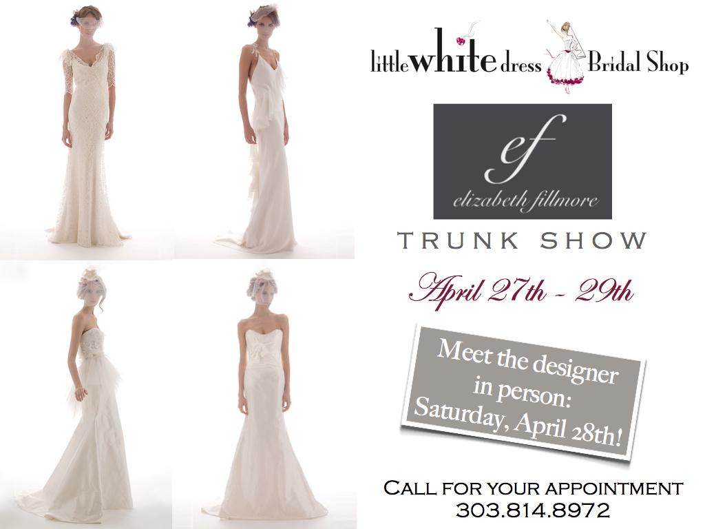 Studiowed denver elizabeth fillmore trunk show little white little white dress bridal shop call junglespirit Gallery