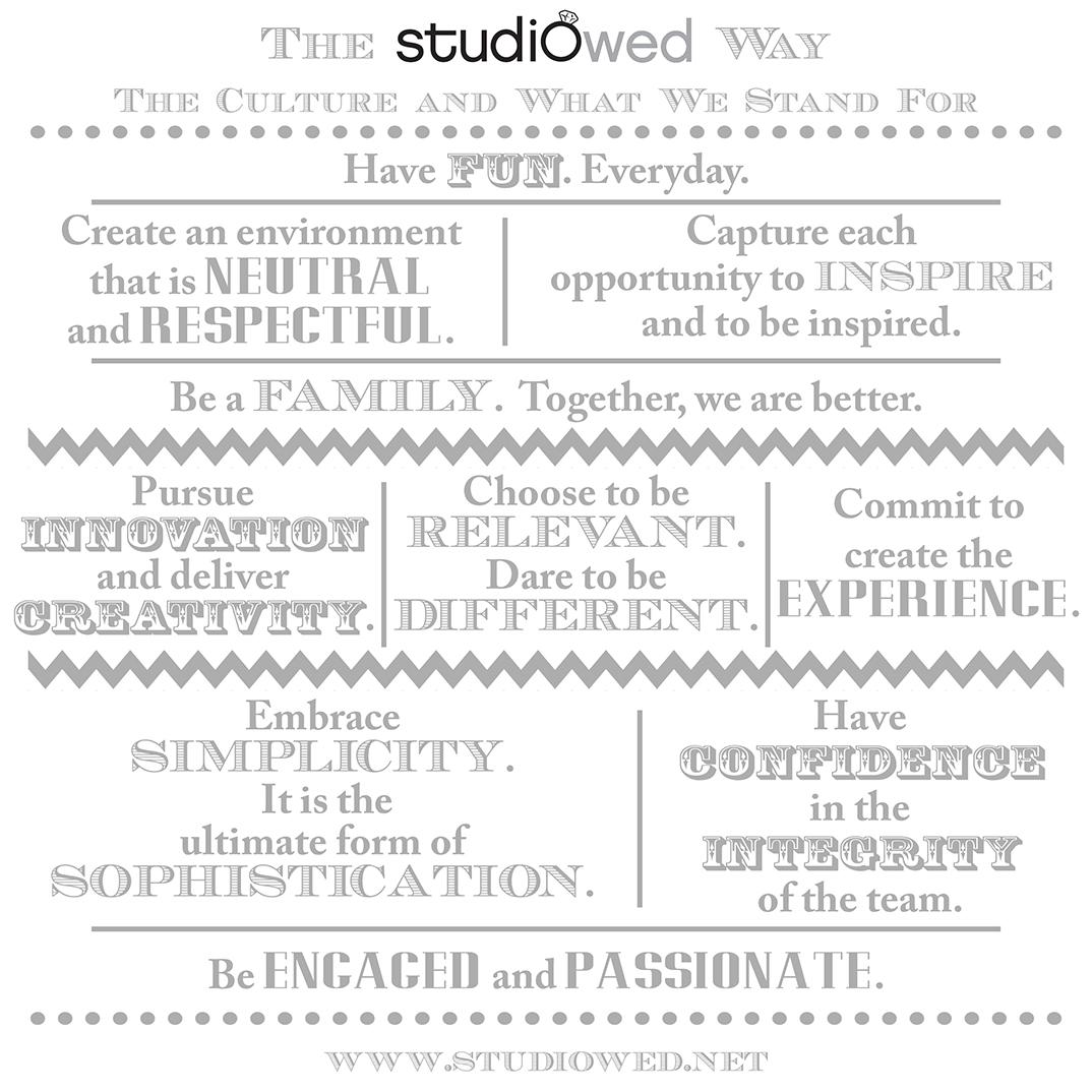 The StudioWed Way