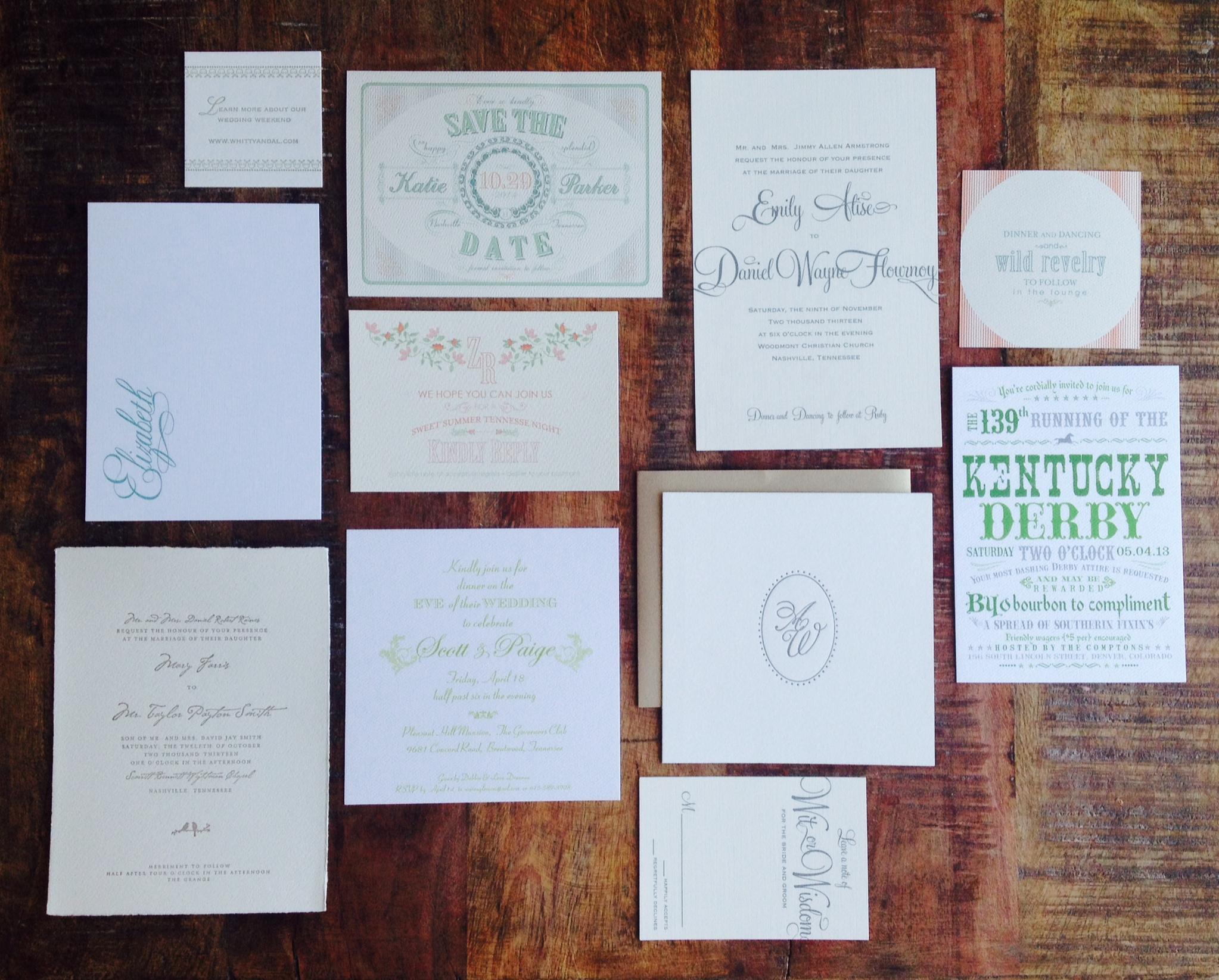 Nashville wedding invitations Emily Holmes Custom Paper Lovelies