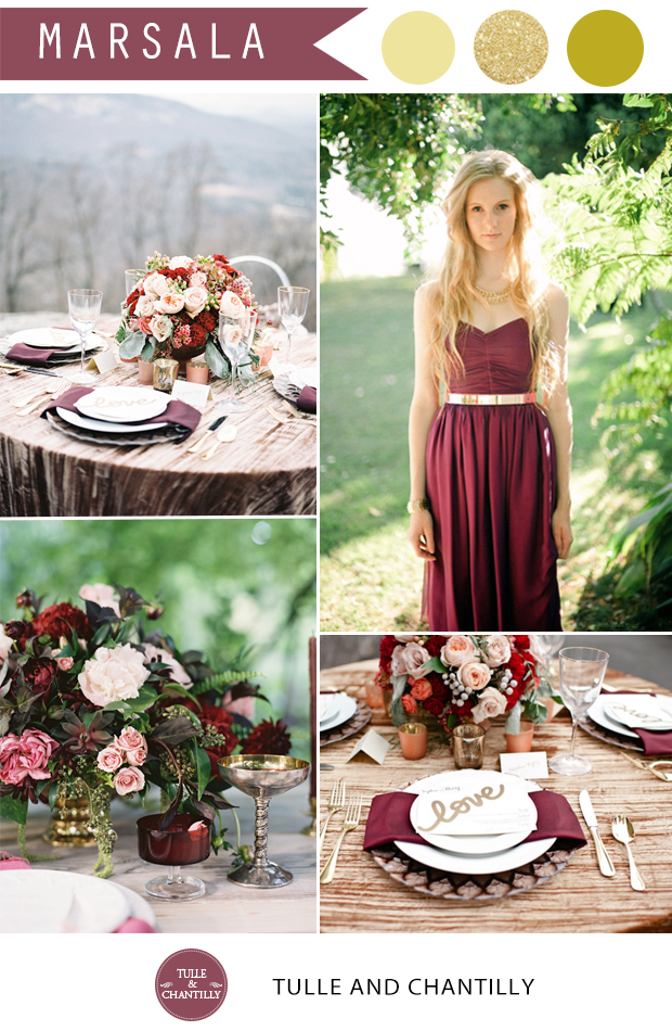 sparkling-gold-and-marsala-wedding-color-ideas-for-fall-wedding-2015