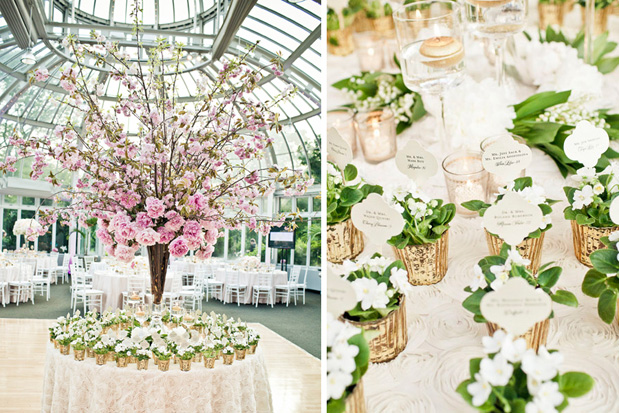 Botanical Gardens Spring Wedding New York City Ambiance Luxe Wedding Design Jag Studios 6