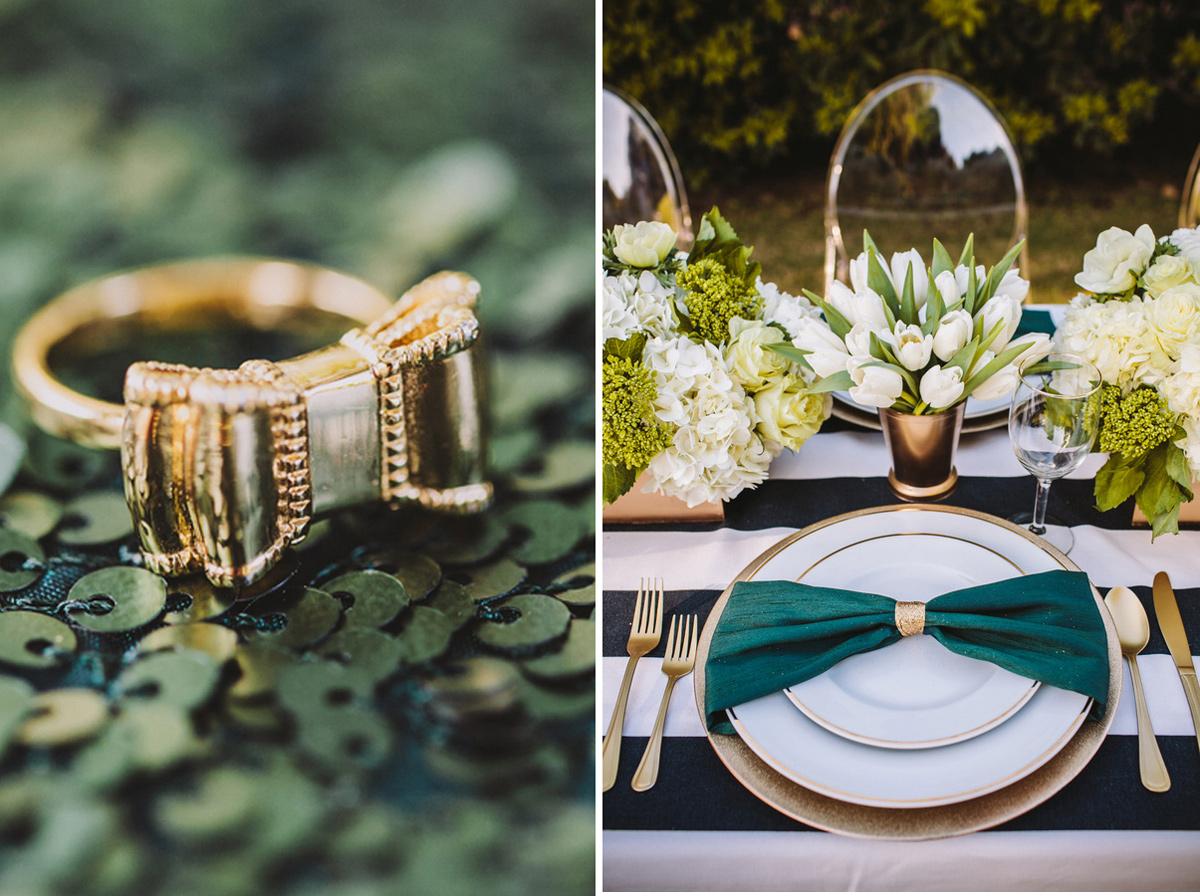 kate_spade_emerald_gold_wedding_stripes_polka_dots_9