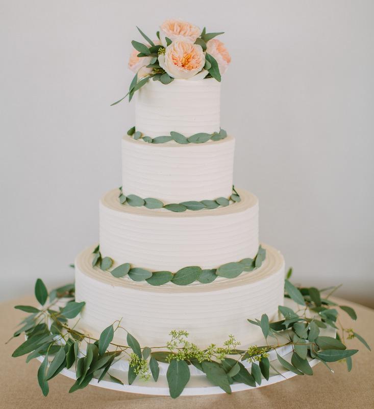 36-Peach-Green-White-Wedding-Cake-Loose-Greenery-Cake-Floral