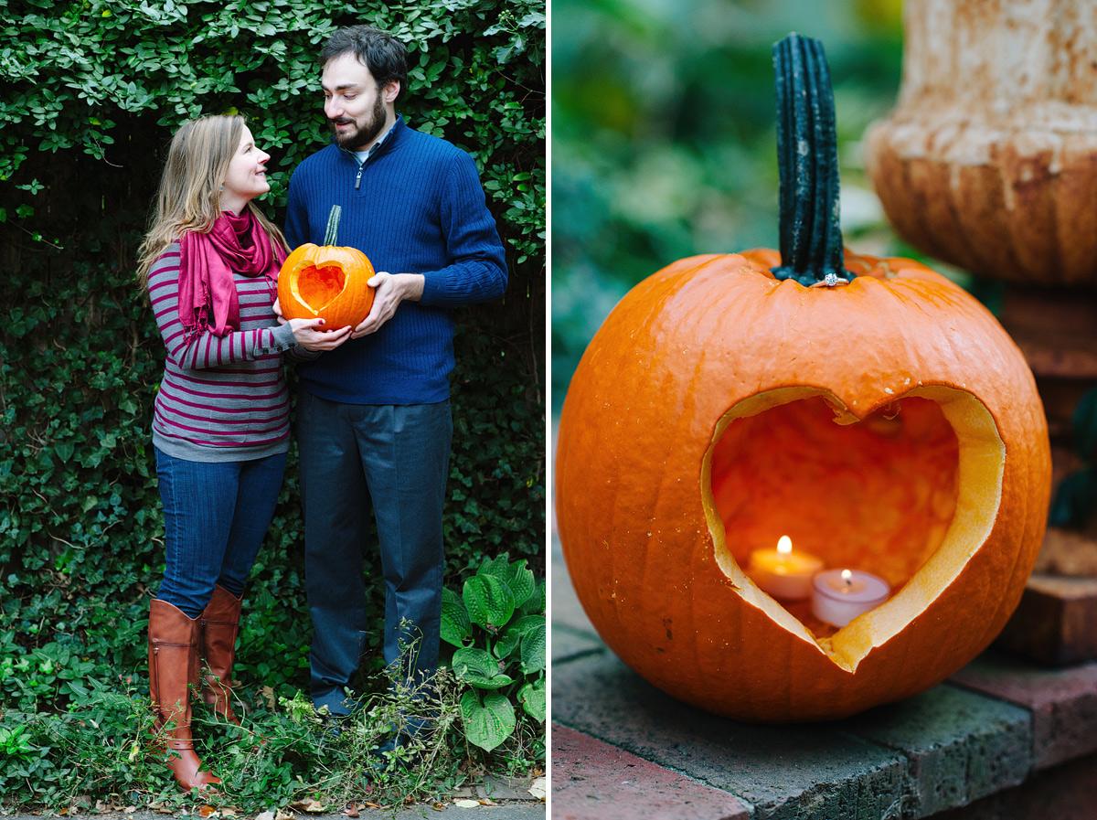 pumpkin-carving-fall-engagement